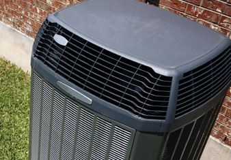 Black Air Conditioning Unit